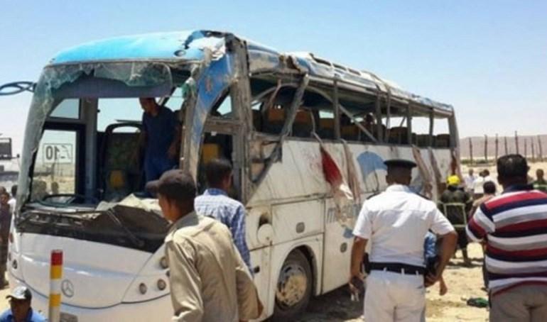 Το λεωφορείο στο οποίο επέβαιναν τα θύματα