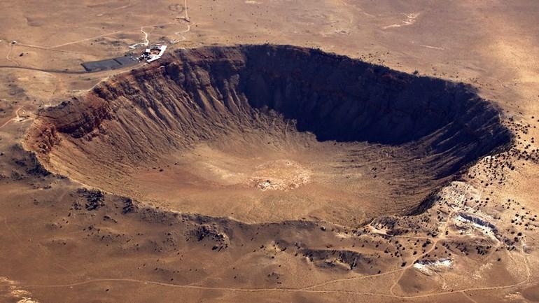 Ενδεικτικά, το μέγεθος ενός κρατήρα που προέκυψε από πτώση μετεωρίτη