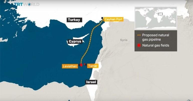 Αγωγός από το σημείο Λεβιάθαν στην ισραηλινή ΑΟΖ διαπερνά στο μεγαλύτερο μέρος του την ΑΟΖ της Κύπρου και καταλήγει στις τουρκικές ακτές