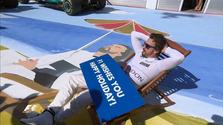 O Alonso τερμάτισε στην 6η θέση και ευχήθηκε με τον δικό του εκκεντρικό τρόπο καλό καλοκαίρι!