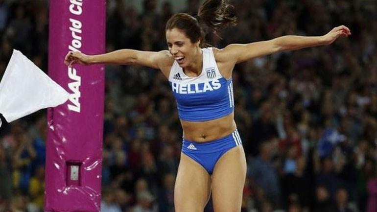 Έξαλλοι οι πανηγυρισμοί της Ελληνίδας πρωταθλήτριας