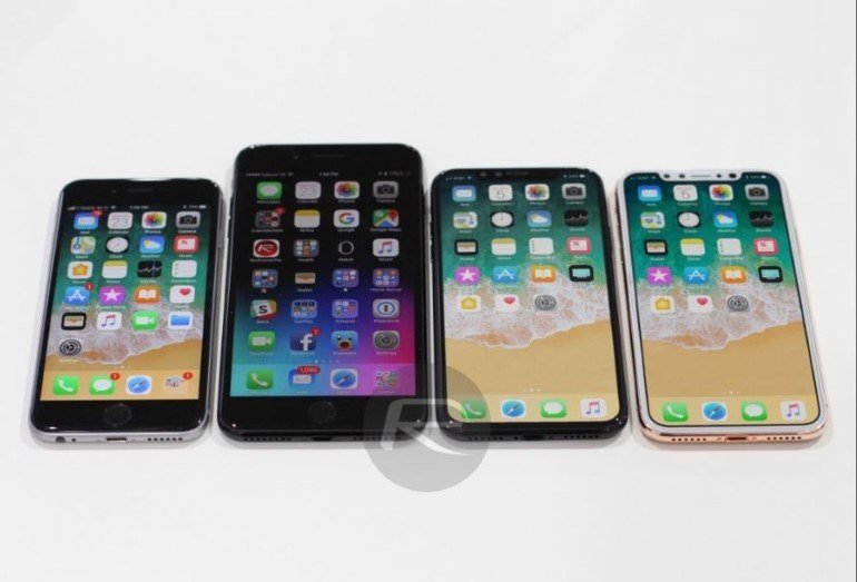 iPhone 6s, iPhone 7 Plus και iPhone 8 (από αριστερά)