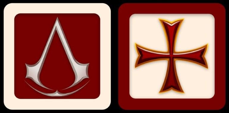 Το σύμβολο των Ασασίνων (αριστερά) και των Ναϊτών (δεξιά)