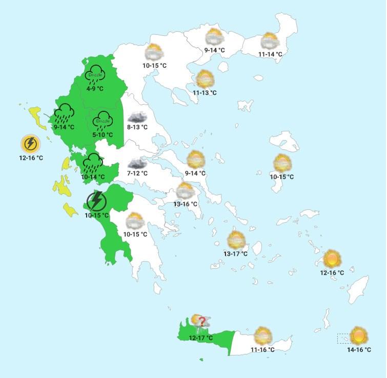 Tρίτη πρωί (χάρτης forecastweather)