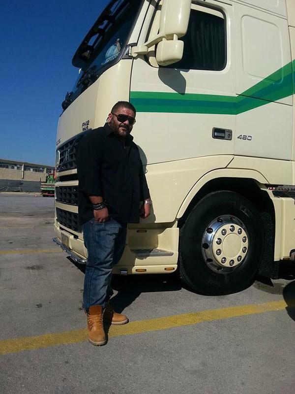 Ο άτυχος οδηγός του φορτηγού Γιάννης Ρούμελης