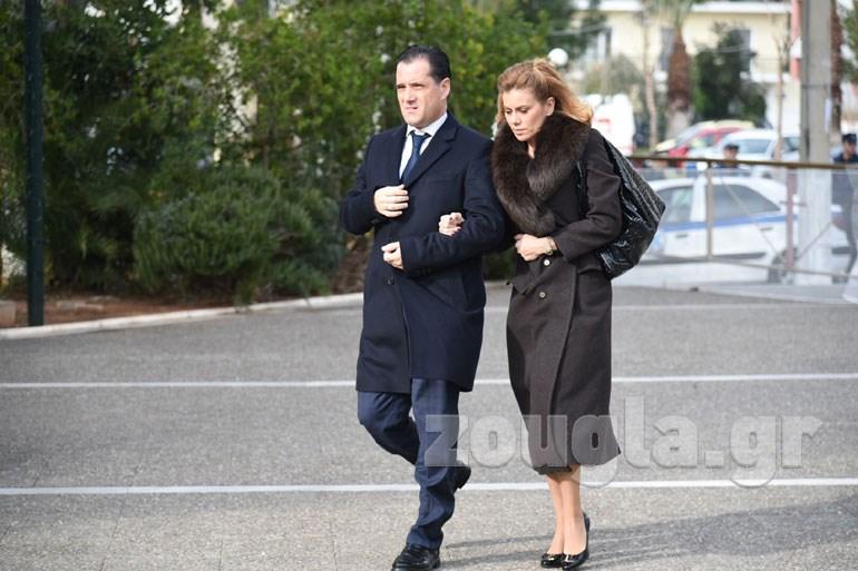 Ο αντιπρόεδρος της ΝΔ Άδωνις Γεωργιάδης με τη σύζυγό του Ευγενία Μανωλίδου