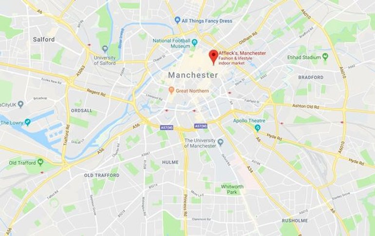 Στον χάρτη φαίνεται το σημείο όπου βρίσκεται η πολυκατοικία