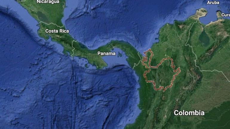 Χάρτης από το σημείο της συντριβής