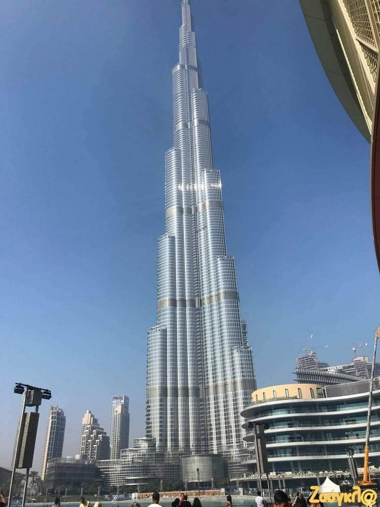 Το υψηλότερο κτήριο του κόσμου, ύψους 826 μέτρων, το Μπουρτζ Χαλίφα. Πήρε το όνομά του από τον σεϊχη που το χρηματοδότησε.