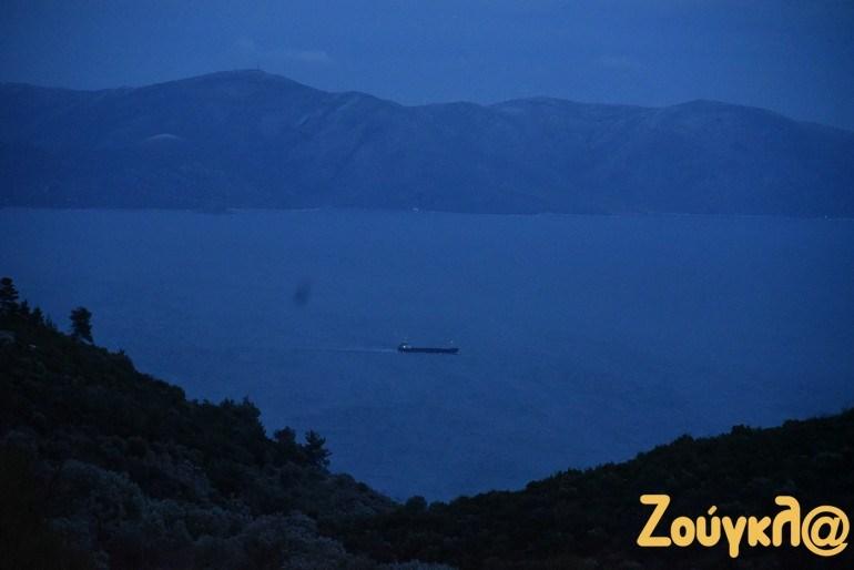 Ο Ευβοϊκός Κόλπος, ακριβώς κάτω από τον ΧΥΤΑ