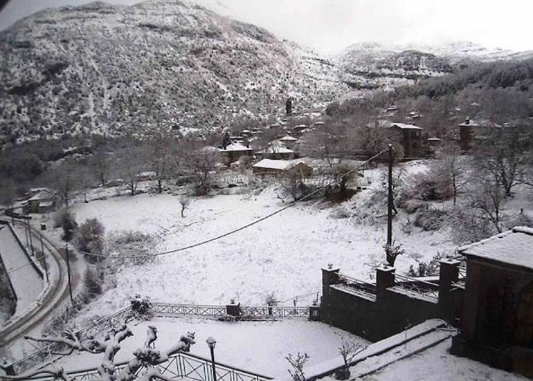 "image - Στα λευκά ""ντύθηκαν"" Μέτσοβο, Τζουμέρκα και Κόνιτσα"
