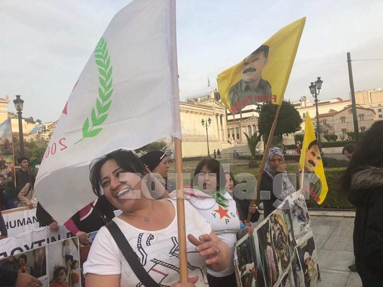 Συγκέντρωση των Κούρδων στα Προπύλαια για το Αφρίν Image