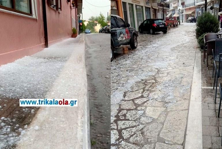 image - Ισχυρή χαλαζόπτωση σημειώθηκε στα Τρίκαλα. (Φώτο-Βίντεο)