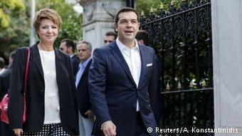 Aλέξης Τσίπρας και Όλγα Γεροβασίλη μετά τις εκλογές του Σεπτεμβρίου 2015