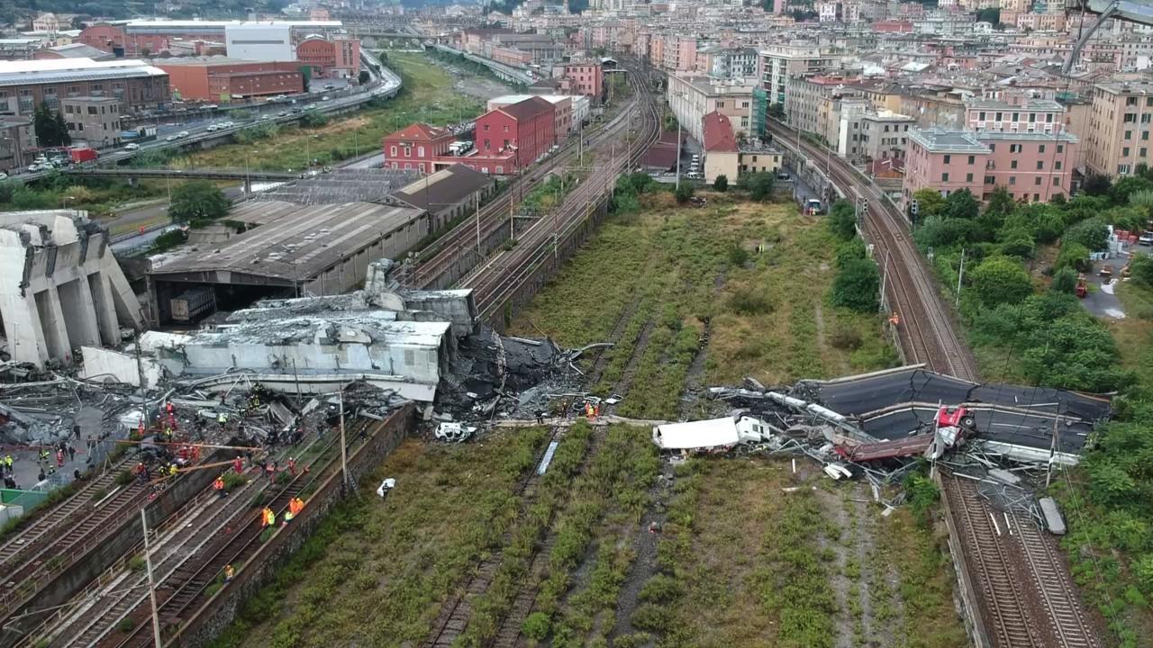 Γένοβα: 39 νεκροί από την κατάρρευση της οδογέφυρας