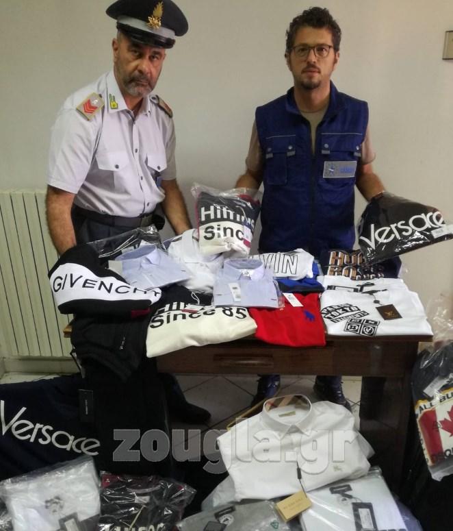 8be9be6025 Επώνυμα ρούχα «μαϊμού» που μεταφέρονταν από την Ελλάδα κατέσχεσαν οι ...