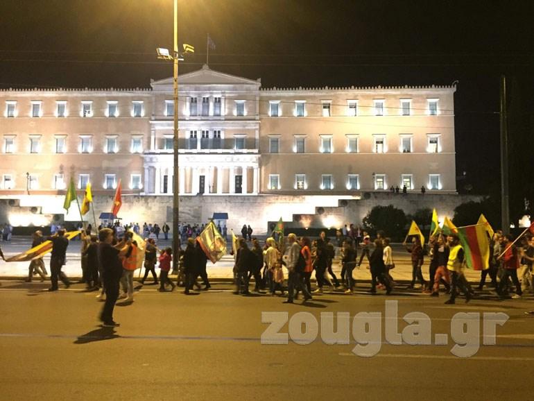 Πορεία διαμαρτυρίας πραγματοποίησαν Κούρδοι προς την Τουρκική πρεσβεία Image