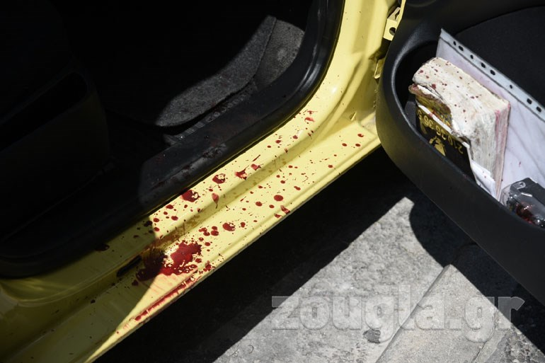 Το ταξί στο οποίο επιχείρησε να εισέλθει αιμόφυρτη η γυναίκα