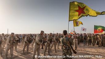 Μαχητές της κουρδικής πολιτοφυλακής YPG στη Συρία