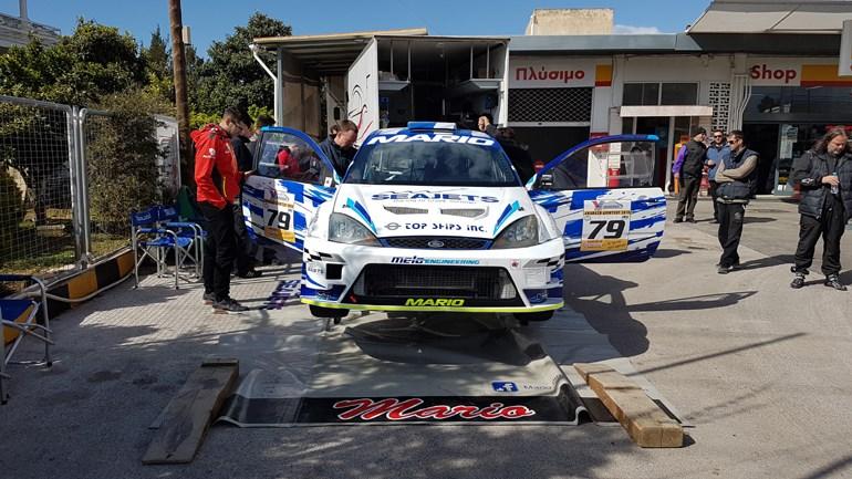 To Ford Focus με το οποίο τρέχει ο Μάριος Ηλιόπουλος στην κατηγορία Formula Saloon