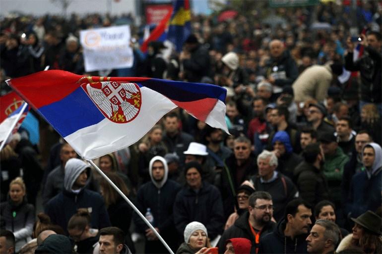 Χωρίς επεισόδια πραγματοποιήθηκε η συγκέντρωση διαμαρτυρίας της αντιπολίτευσης στο Βελιγράδι