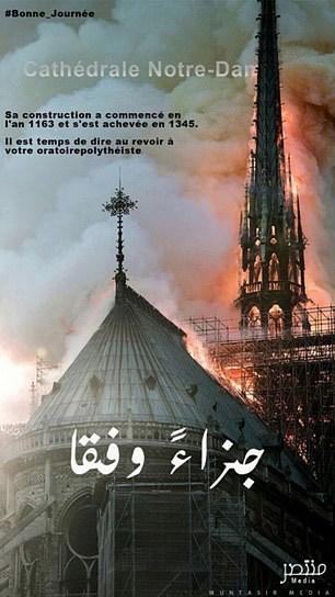 image - Πανηγυρίζει ο ISIS για την καταστροφή της Παναγίας των Παρισίων
