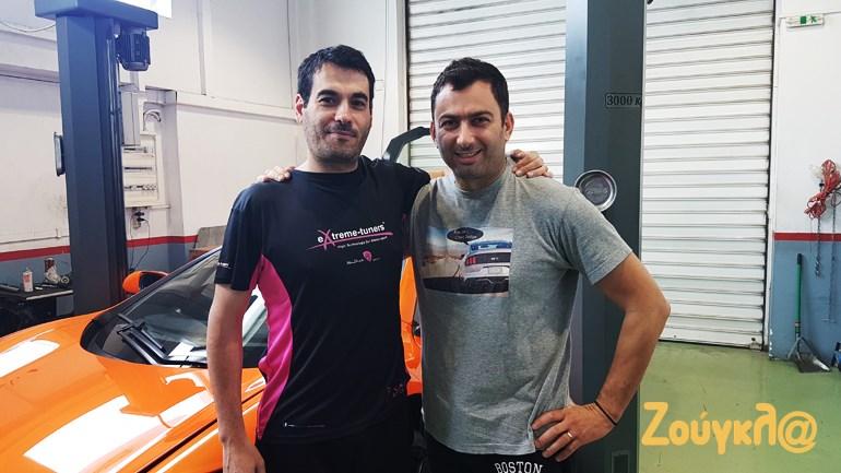 Μαζί με τον Σπύρο Πανόπουλο στο μέρος που... γιατρεύει και βελτιώνει τα super cars