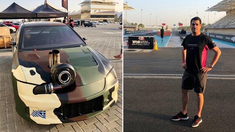To Mitsubishi EVO της Extreme Tuners με το οποιίο ο Σπύρος Πανόπουλος έσπασε το παγκόσμιο ρεκόρ