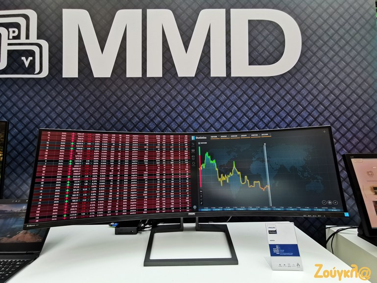 "49"" Philips  32:9 SuperWide κυρτή LCD οθόνη 499P9H Brilliance"