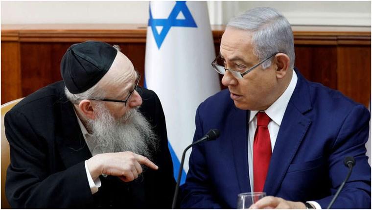 Ο Νετανιάχου συζητά με τον πρώην αναπληρωτή υπουργό Υγείας Yaakov Litzman
