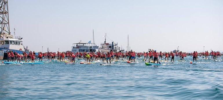 Περισσότεροι από 500 αθλητές θα συμμετάσχουν στο εφετινό πέρασμα του Ισθμού της Κορίνθου με SUP