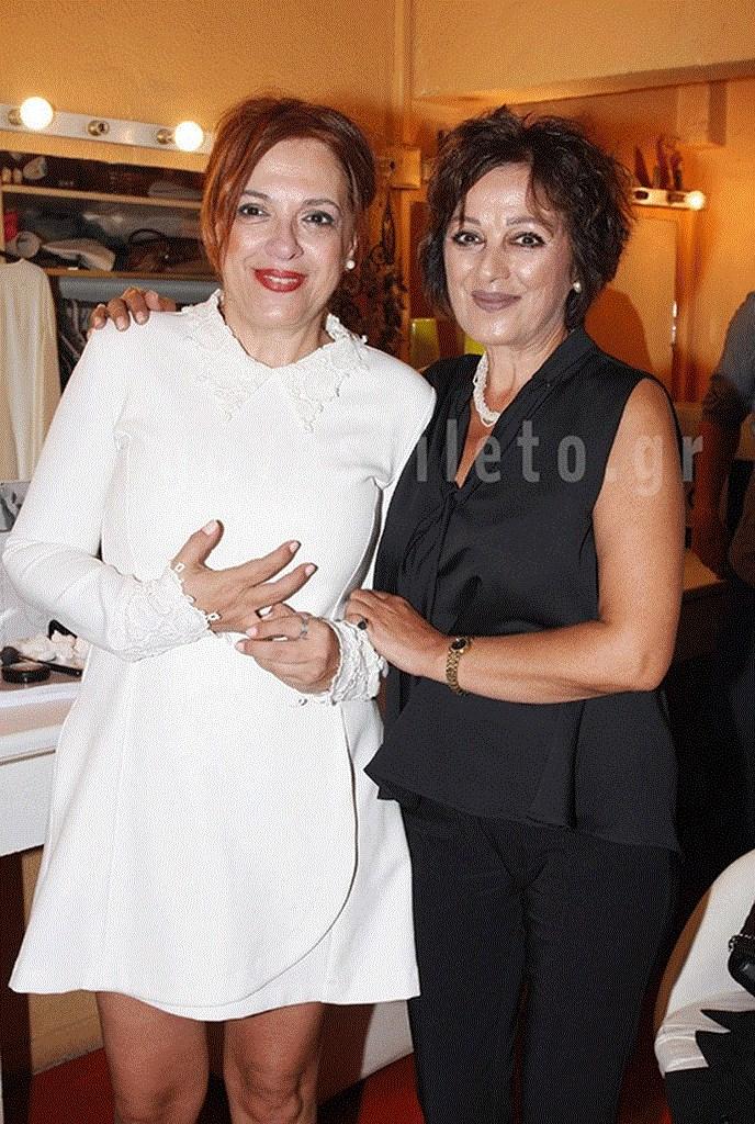 Η Ελένη Ράντου με την αδελφή της