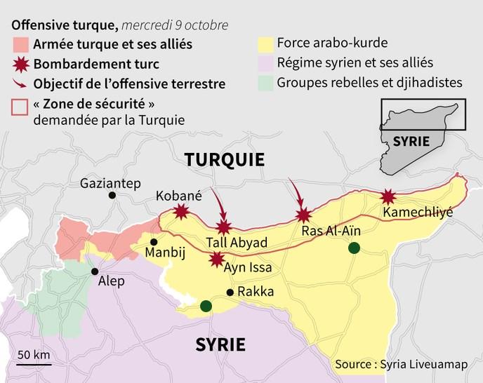 Με πράσινο χρώμα οι δύο πόλεις που κατέλαβε τη Δευτέρα ο συριακός στρατός
