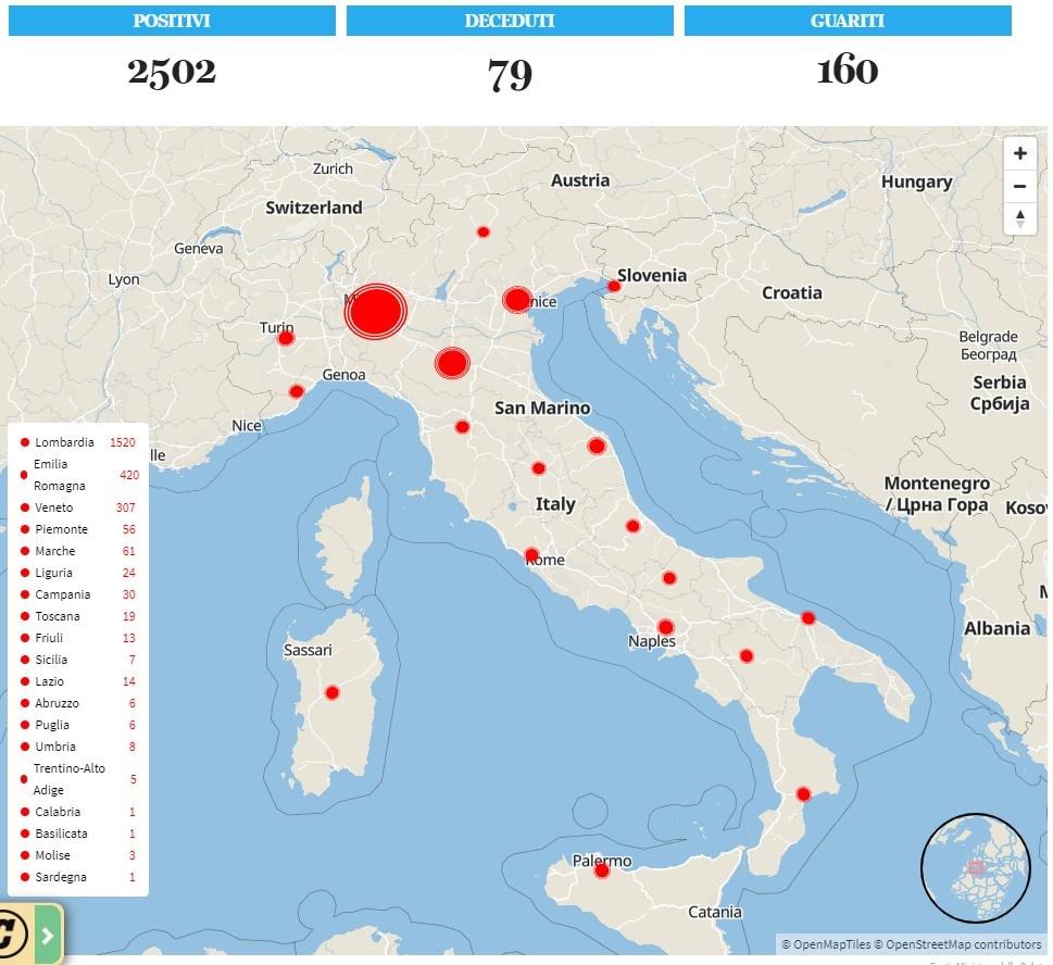Κορωνοϊός: 79 νεκροί στην Ιταλία, πάνω από 2.500 τα κρούσματα | ΥΓΕΙΑ | Ορθοδοξία | orthodoxiaonline | Κορωνοϊός |  Ιταλία |  ΥΓΕΙΑ | Ορθοδοξία | orthodoxiaonline