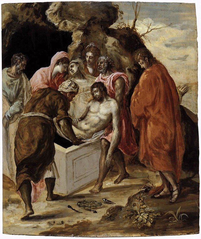 O πίνακας του Δομήνικου Θεοτοκόπουλου «Ο Ενταφιασμός του Αγίου». Ονομάζεται επίσης και «Η ταφή του Χριστού».