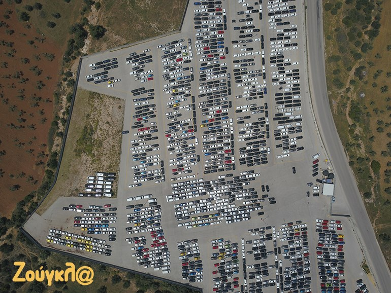 Πάνω από 2.500 αυτοκίνητα είναι παρκαρισμένα σε αυτόν τον χώρο που ανήκει στην εταιρεία Sarmed Automotive