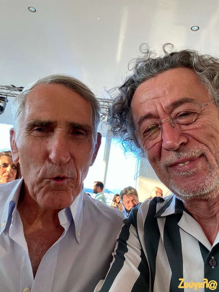 Ο Στέλιος Σεραφείδης με τον Μάκη Τριανταφυλλόπουλο