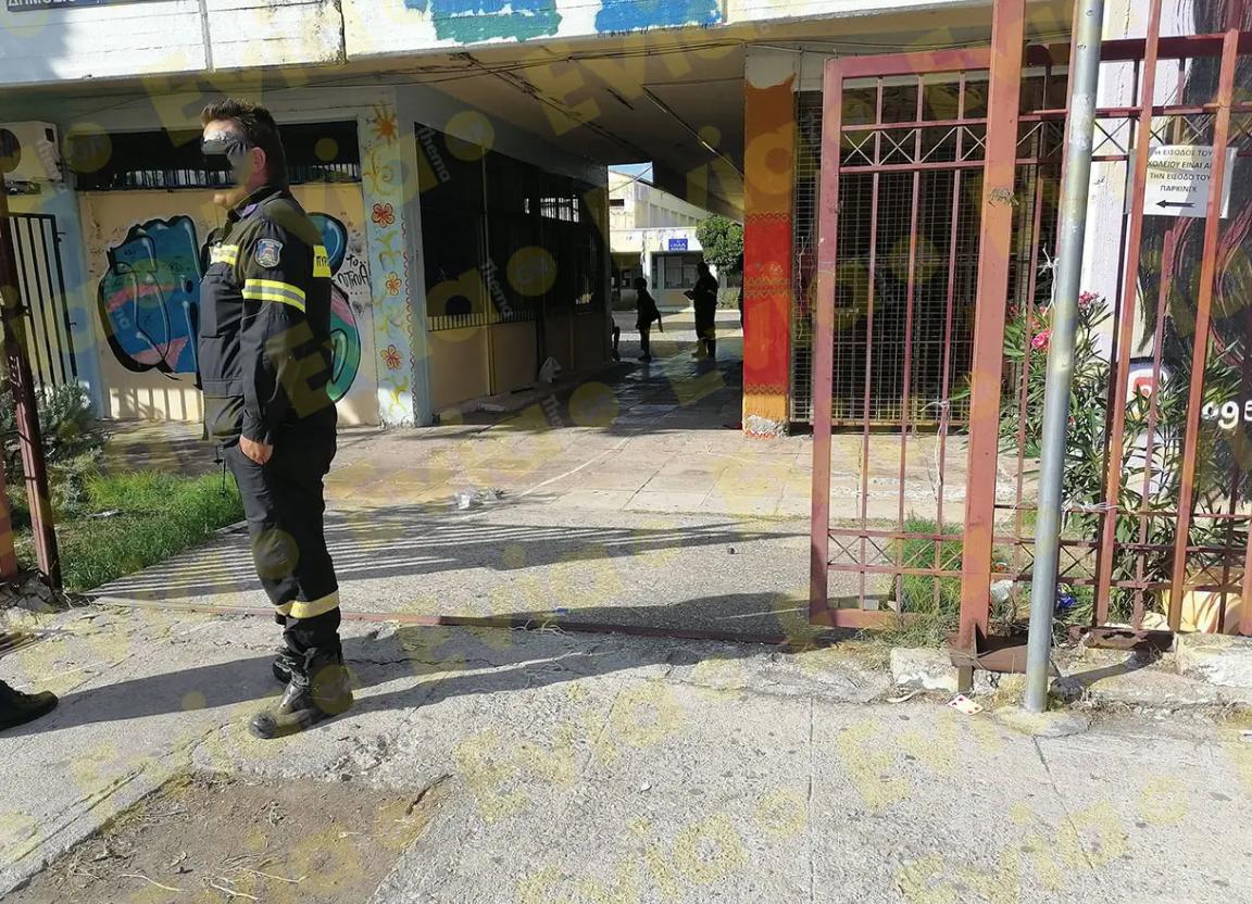 Χαλκίδα : Φωτιά στο υπό κατάληψη 1ο ΕΠΑΛ...