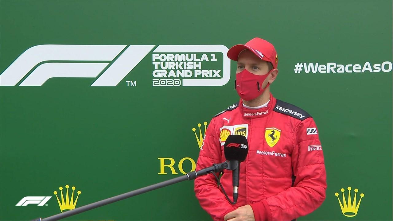 Πρώτο φετινό βάθρο για ον Vettel με Ferarri που παρά τις δυσκολίες και τα προβλήματα έστειλε το μήνυμα πως μόνο τυχαία δεν έχει 4 τίτλους στο παλμαρέ του