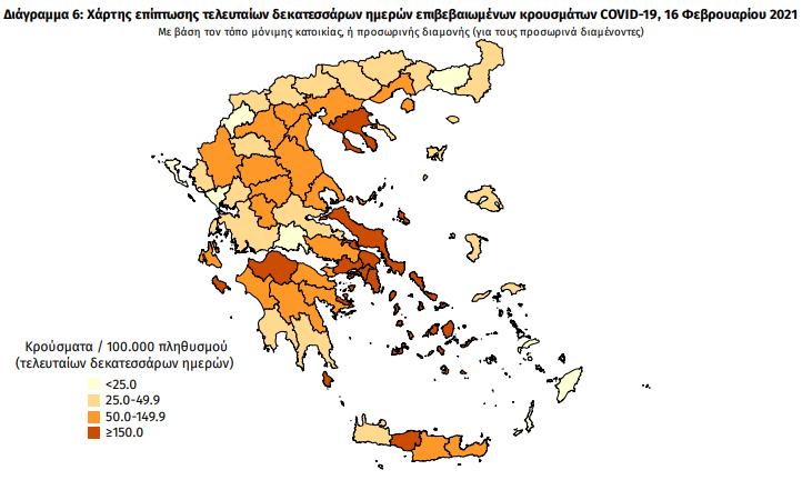 Κρούσματα κορωνοϊού στην Ελλάδα σήμερα Τρίτη 16 Φεβρουαρίου 2021 | ΥΓΕΙΑ | κρουσματα κορονοιου ελλαδα σημερα | 16 φεβρουαριου | ΥΓΕΙΑ | Ορθοδοξία | online
