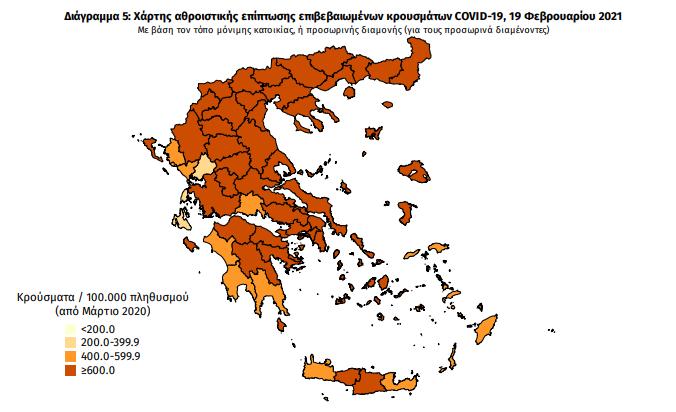 Κρούσματα κορωνοϊού στην Ελλάδα σήμερα Παρασκευή 19 Φεβρουαρίου 2021   ΥΓΕΙΑ   κρουσματα κορονοιου ελλαδα σημερα   19 φεβρουαριου   ΥΓΕΙΑ   Ορθοδοξία   online