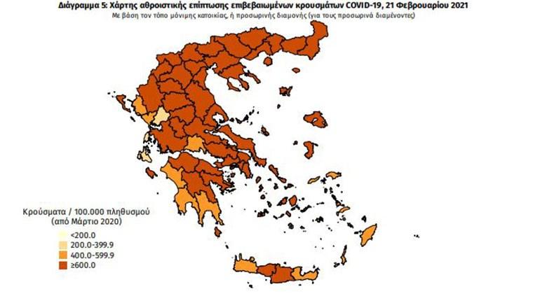 Κρούσματα κορωνοϊού στην Ελλάδα σήμερα Κυριακή 21 Φεβρουαρίου 2021 | ΥΓΕΙΑ | κρουσματα κορονοιου ελλαδα σημερα | 21 φεβρουαριου | ΥΓΕΙΑ | Ορθοδοξία | online
