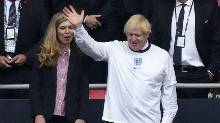 Δεν θα μπορούσε να λείπει από τις εξέδρες ο Πρωθυπουργός της Βρετανίας, Μπόρις Τζόνσον